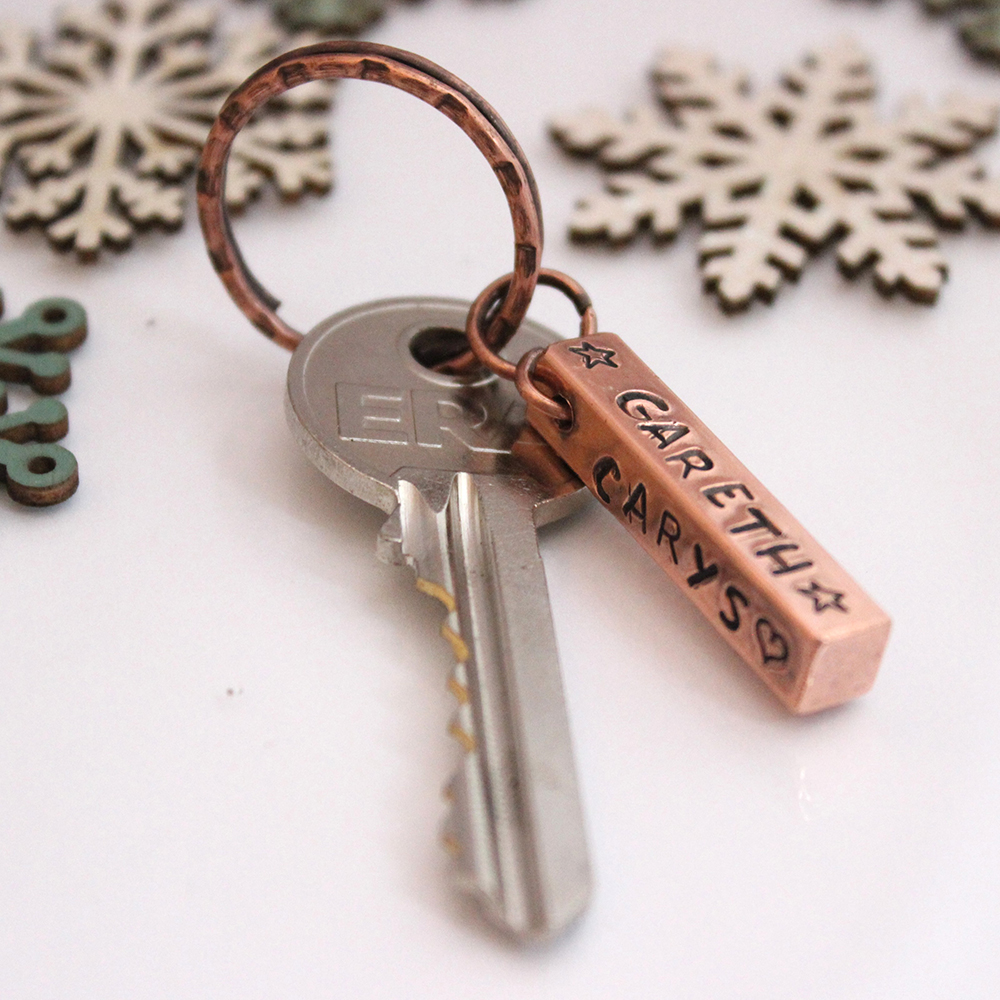 personalised Copper Bar Key