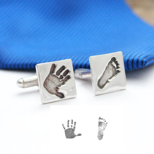 silver Hand & Foot print Cuff Links
