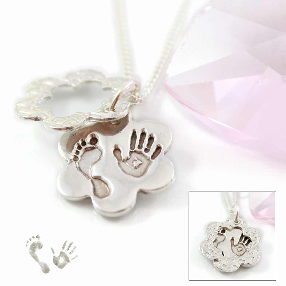 silver hand print jewellery - windows pendant