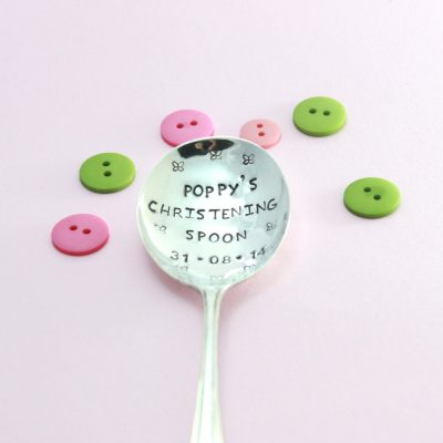 Personalised silver Christening Spoon