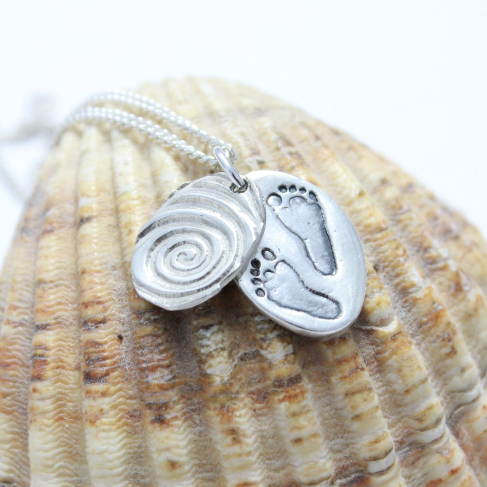Silver Footprint Jewellery