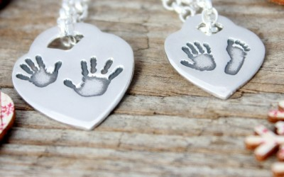 Handprint Jewellery – Tiffany Style Hearts