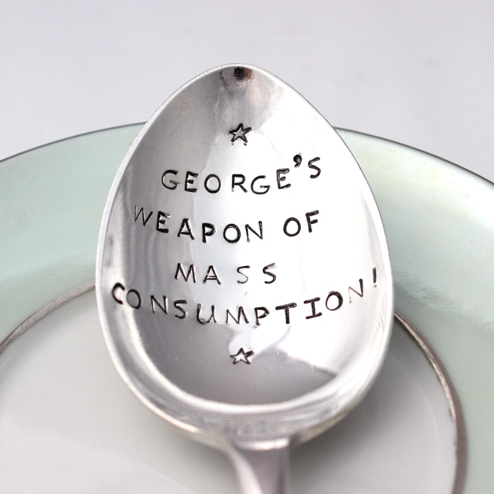 Personalised message spoon