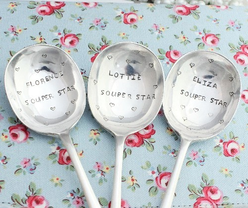 Personalised soup spoons