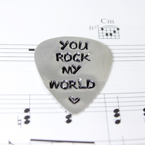 personalised aluminium guitar pick