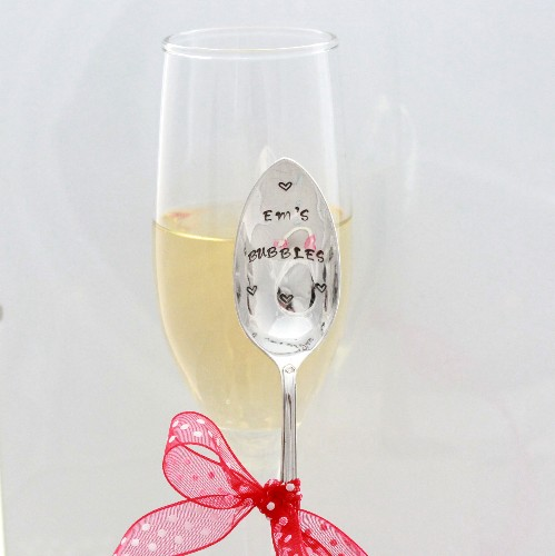 Personalised champagne spoon