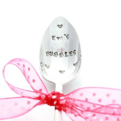 Personalised Spoon silver plated vintage spoon