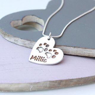 silver pet paw print pendant by Impressions to Keep