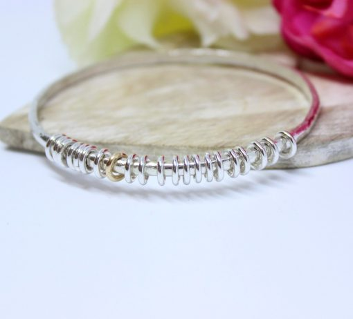 silver milestone personalised bangle