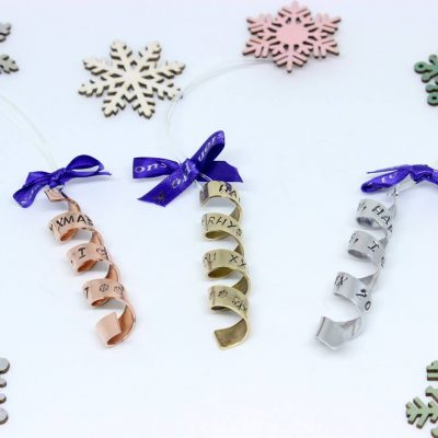 personalised christmas tree spirals