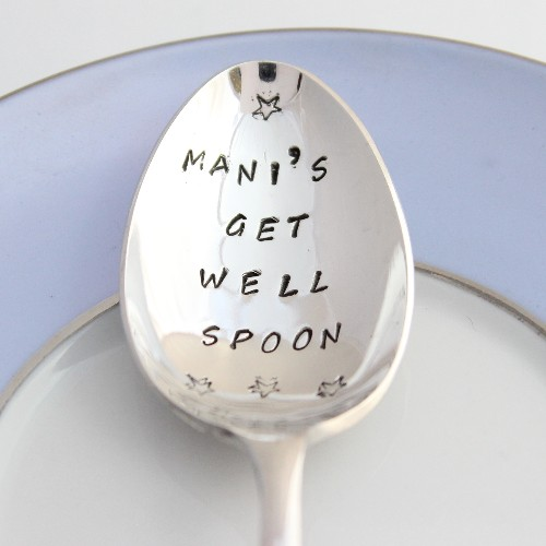Personalised tea spoon - get well spoon