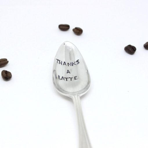 personalised latte spoon