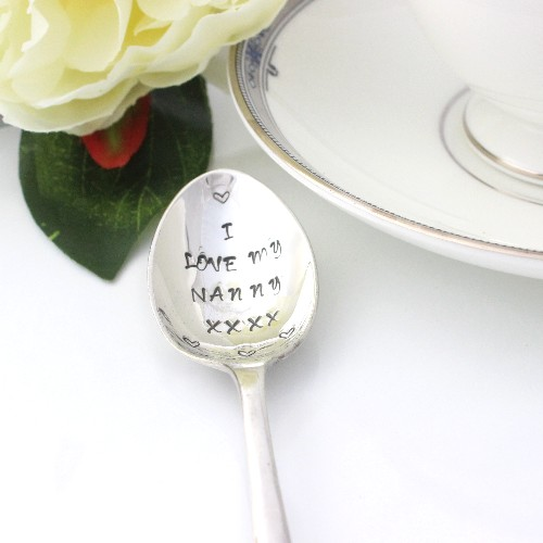 personalised silver vintage tea spoon