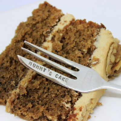 personalised cake fork