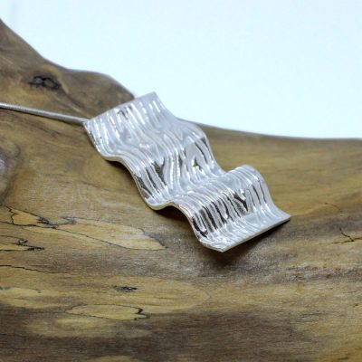 Ocean wave silver necklace